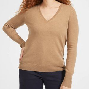 Everlane Cashmere Camel V-Neck Sweater NWT